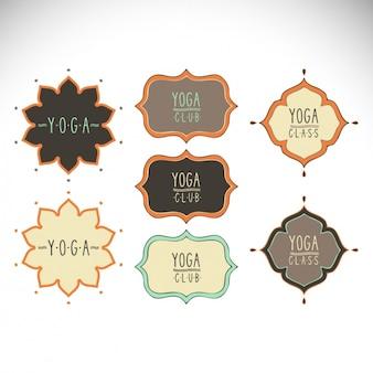 Coleta de etiquetas yoga