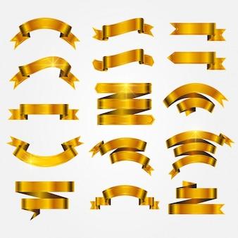 Coleta de fitas douradas