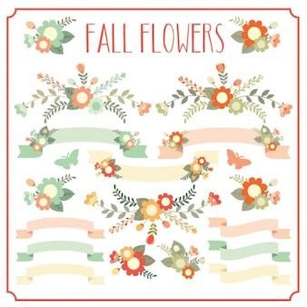 Coleta de flores da queda