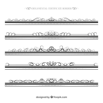 Coleta de fronteira de certificado ornamental
