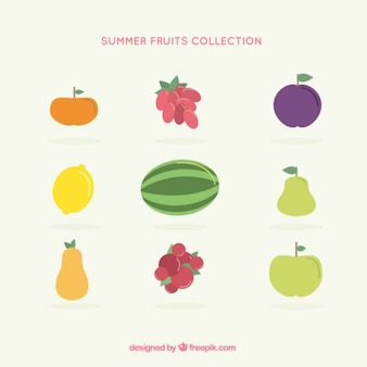 Coleta de frutos colorido