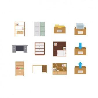 Coleta de ícones da mobília