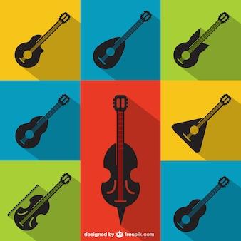 Coleta de instrumentos de corda