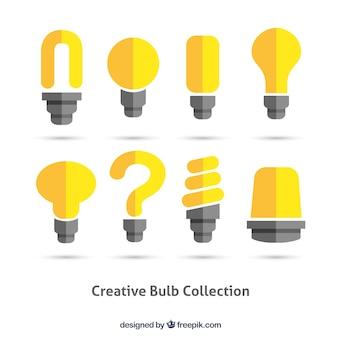 Coleta de lâmpadas criativo