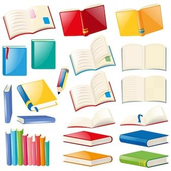 Coleta de livros coloridos