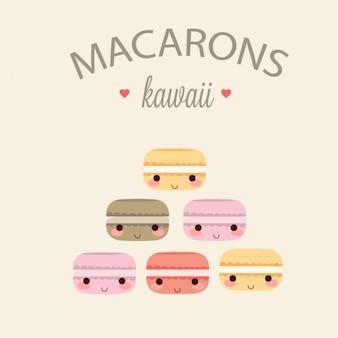 Coleta de macarons coloridos