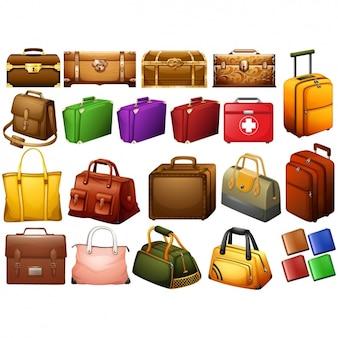 Coleta de malas de viagem