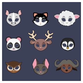 Coleta de máscaras de animais