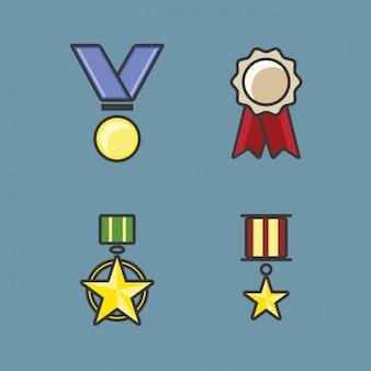Coleta de medalhas colorido