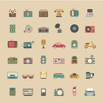 Coleta de objetos do vintage