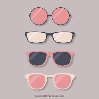 Coleta de óculos adorável