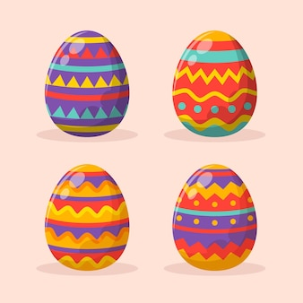 Coleta de ovo de páscoa plano