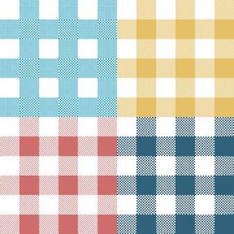 Coleta de padrões quadrados coloridos