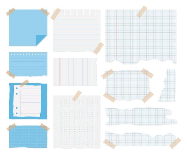 Coleta de papel rasgado com fita adesiva