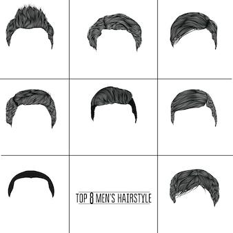 Coleta de penteados homem