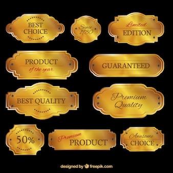 Coleta de placas de ouro