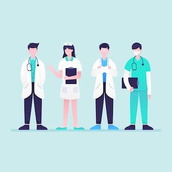 Coleta de profissionais de saúde