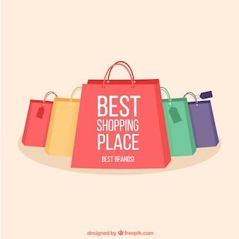 Coleta de sacos de compras