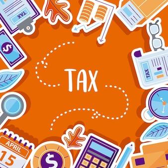 Coleta de símbolo de imposto