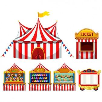 Coleta de tendas de circo