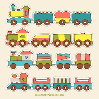 Coleta de trem infantil