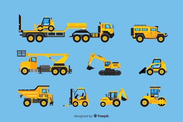 Coleta de veículos de construção