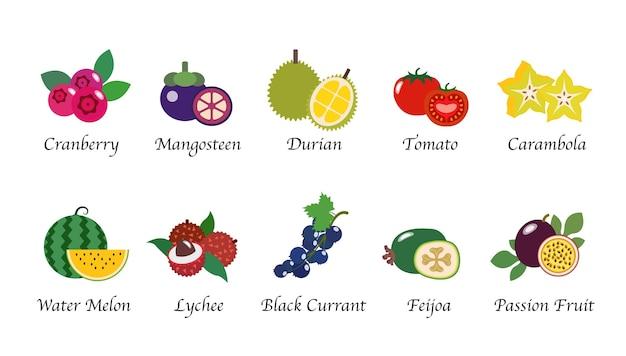 Coleta isolada de frutas naturais naturais