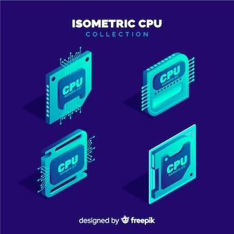 Coleta isométrica de cpu