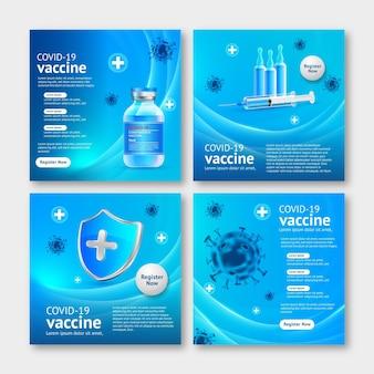Coleta realista de postagens de vacinas no instagram