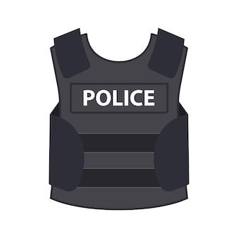 Colete de armadura à prova de balas da polícia