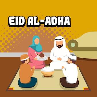 Colete em ilustração eid al-adha