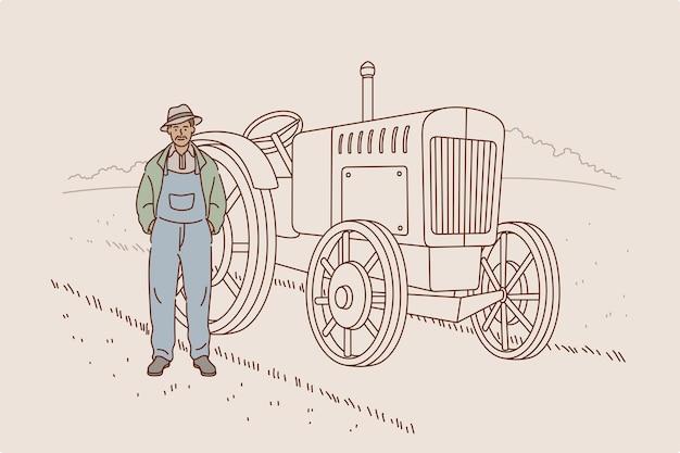 Colher e trabalhar no conceito de fazenda