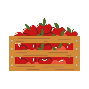 Colher maçãs na cesta