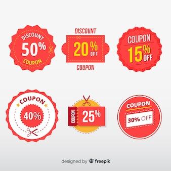 Collectio de etiqueta de venda de cupom