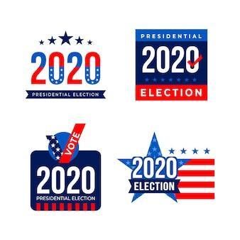 Colocação de logotipos da eleição presidencial dos eua em 2020
