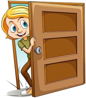 Colocando o pé dentro da porta