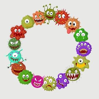 Colônia de germe de desenho animado