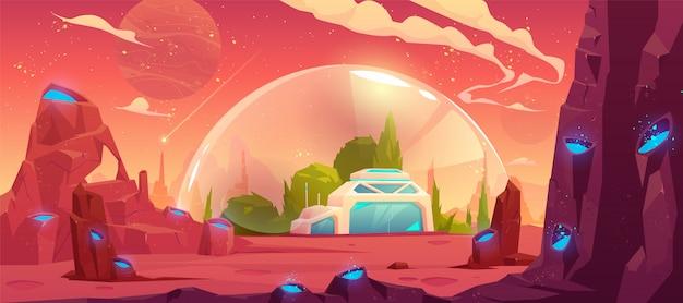 Colonização do planeta, estação espacial, bunker