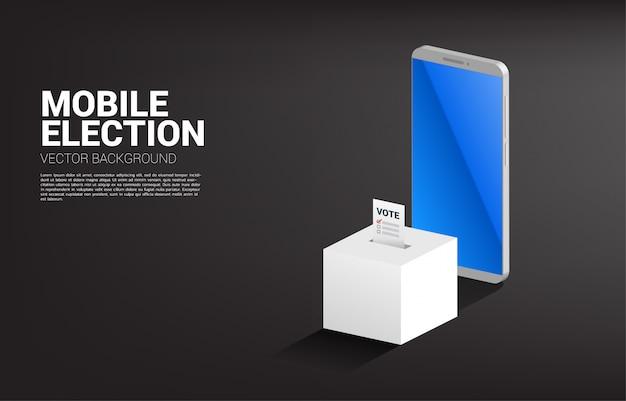 Coloque voto na caixa de eleição. conceito para voto eleitoral