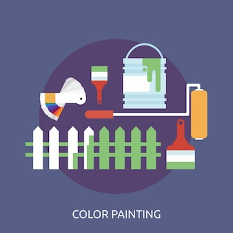 Color design conceptual de pintura