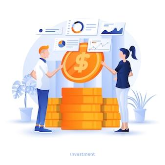 Color ilustração moderna - investimento