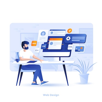Color modern illustration - web