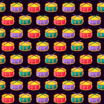 Color music drum black seamless padrão