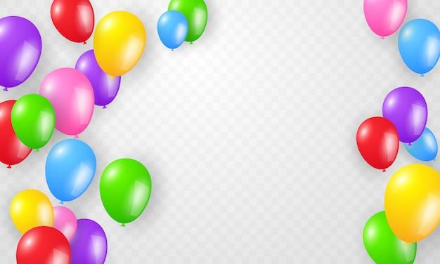 Colora o dia feliz do feriado do molde do conceito dos balões, ilustração da celebração do fundo.