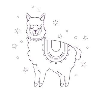 Coloração bonita para crianças com cabra