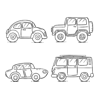 Coloração bonita para crianças com carros