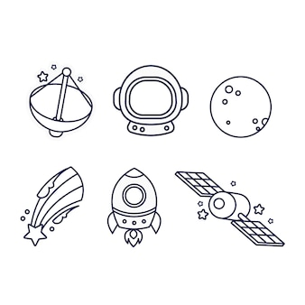 Coloração bonita para crianças com naves estelares