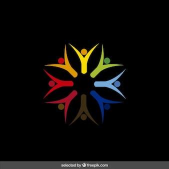 Colorful caridade logotipo