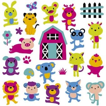 Colorful ilustração animal
