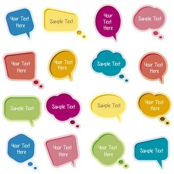 Colorfull balões de fala